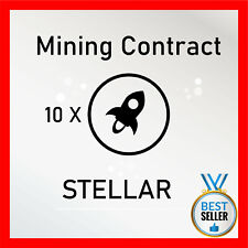 10 Stellar (XLM) CRYPTO MINING-CONTRACT - 10 XLM - Crypto Currency