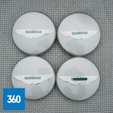 4 x NEW GENUINE ASTON MARTIN PAINTED SILVER GREEN CENTRE CAPS HUB 4R12-126227-AA