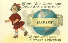 Kansas City,KS. Won't you Come and Skate with Me in Kansas City 1915