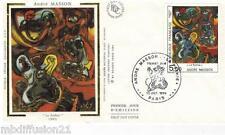 1984 - ENVELOPPE SOIE FDC 1°JOUR**ANDRE MASSON - PEINTRE.ART - TIMBRE Yv.2342