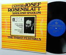Cantor JOSEF ROBENBLATT Lp SHOLOSH R'GOLIM The Three Festivals JEWISH HEBREW