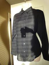 Thomas Pink London Black 100% Linen Long Sleeve Shirt Blouse - Size US 12