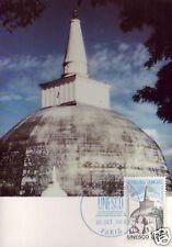 S90+ FDC CARTE 1er JOUR    UNESCO SRI LANKA