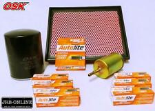 FORD FALCON AU AU11 AU111 6CYL OIL AIR FUEL FILTER SERVICE+SPARK PLUGS 98-02