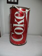 VINTAGE 1970's COCA-COLA COKE CAN 6 PACK TRAVEL COOLER by ECHO,INC. VG