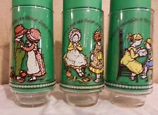 Vintage~S/3~Holly Hobbie~Happy Talk~American Greetings~Coke~Limited Ed Glasses