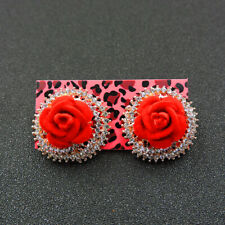 Betsey Johnson Fashion Jewelry Beauty Flower Diamante Stud Earrings