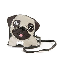 Cute Little Pug Puppy Dog Cross Body Purse Handbag