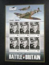"British Indian Ocean Terr BIOT - "" ACES & LEADERS ~ BATTLE OF BRITAIN"" MS 2010"