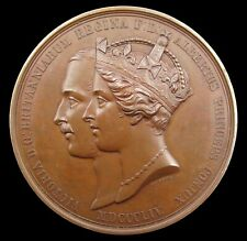 More details for 1854 crystal palace sydenham 64mm bronze medal - by adams