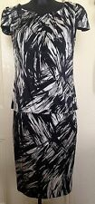 Ann Taylor Silk Black and White Skirt Top Suit US 4 UK 10 RRP £225