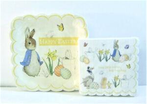 Beatrix Potter Peter Rabbit Happy Easter Square Paper Plates & Napkins