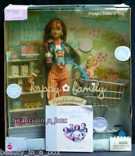 Happy Family Midge Nikki & Baby Barbie Doll Shopping Fun Playset Cart CC