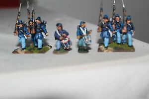 28MM ACW WARGAME FIGURES PRO PAINTED 11 FIGURES IN TOTAL PRE-OWNED