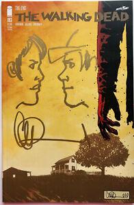 WALKING DEAD #193 w/GLENN & MAGGIE REMARQUE SIGNED BY CHARLIE ADLARD 2ND PRINT