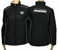 G-III Sports Pittsburgh Penguins NHL Womens Players Zip Up Soft Jacket, Black
