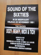 Shoes Dozy Beaky Mick & Tich concert poster Amsterdam 1991 power pop