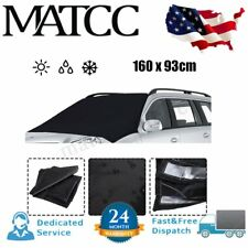 Car Windshield Window Magnetic Cover Sunshade Protector Sun Snow Frost Ice US -