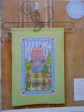 No Place Like Home Full Colour cross stitch chart conçu par Durène Jones