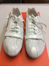 NIKE ZOOM RIVAL S TRACK SPIKES MEN SHOES WHITE/SILVER SIZE 7.5