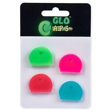 Glo Caps, Glow in the Dark, 4 Pcs Key Caps, Rubber Key Identifier, Color Coded