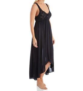 Shadowline Silhouette Nylon Tricot Hi-Low Gown - 35737