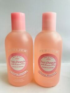 PERLIER Orange Blossom FOAM BATH Set,  16.9 oz ea