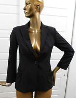 Piazza Sempione Italy sz 42 Black Wool Blend Blazer Jacket