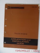 1988 Caterpillar Truck Engine Application and Installation Guide Manual Vintage