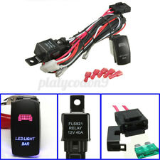 40A 12V DC 300W Relay Fuse& Wiring Harness LED Light Bar Rocker Switch On Off