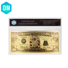 America 24k Gold Banknotes One Million Dollar Banknotes with Plastic Frame