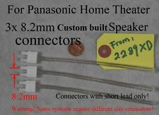 3 speaker wire connectors/plugs 8.2mm made for old Panasonic home theater; Read!