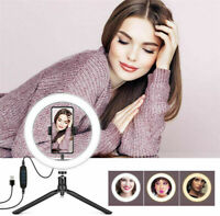 10inch LED Ring Light Dimmable Photography Video  Selfie Makeup Live Lamp Set