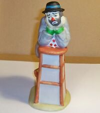 Emmett Kelly Figurine, Leaning On High Stool.
