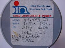 """INDIUM WIRE 99.99% PURE 0.025"""" DIA 3' LENGTH MADE BY INDIUM CORP OF AMERICA IN"""