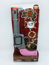 NEW Top Shotz Old Western Toy Pistol with Light & Sound ~ Pink ~ Ages 5+