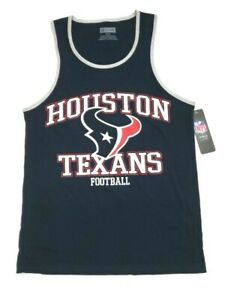 Houston Texans Men NFL Pro Line Tank Top Team Apparel Navy/Red/White Size S, 2XL