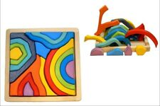Wooden Mosaic Four Elements Toddler Designer Learn Educational Kids Toy for Baby