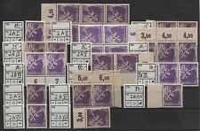 SBZ 2 großes Lot Plattenfehler ex I-XVII 14 Werte postfrisch (B04610)