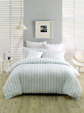 Deco by Linen House Queen Quilt Cover Set Euros Cush Cover Ashton blue white