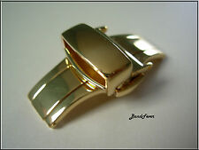 CLEARANCE!!! 18mm Gold Butterfly Deployment Watch Clasp Buckle + 2 spring bars