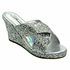 Forever Mikki-12 Women's Silver Pageant Dress Evening & Party Shoes size 8