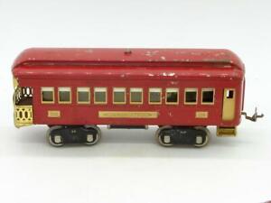 Lionel Prewar Standard Gauge Red 338 Lighted Observation Car