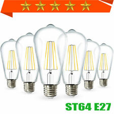 Dimmable 6X ST64 LED Lamp Edison Bulb Amber Filament Light 4/6/8W AC110V/220V