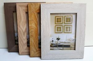 "Laminated Wide Photo Frame set Oak Limed Oak Ash 6x4/ 5x7""/6x8/8x10/A4 Picture"
