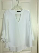 Zara Woman Sz XL White Long Sleeve