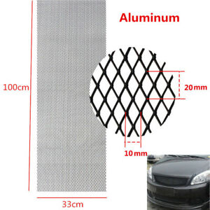 "40""x13""Grille Mesh Net Sheet Silver Tone Aluminum Grill For Car Fender Hood Vent"