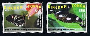Tonga - 2015 - Butterflies Set - EMS Rate Postage Stamp Issue