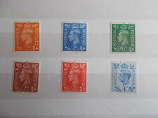 Gb gvi 1950 definitves changement de couleur superbe m/n/h (sg 503-506) cat £ 4