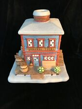 Partylite Village Votive Candle Holder General Store Building -Great Condition-